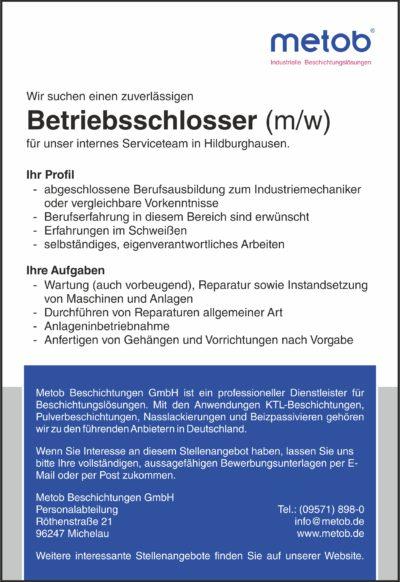 Anzeige 2017-07 Betriebsschlosser digital