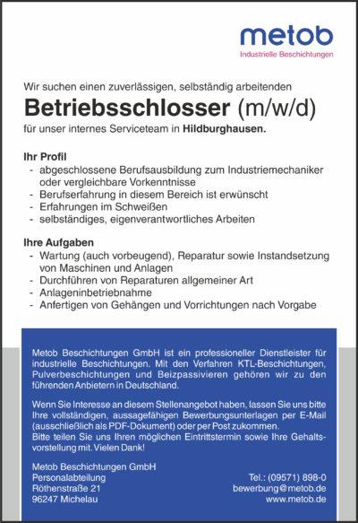 Anzeige Betriebsschlosser 2019-11